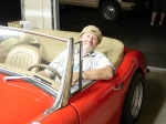 Jimmy Brown in his baby, a 'replicar' Austin Healy