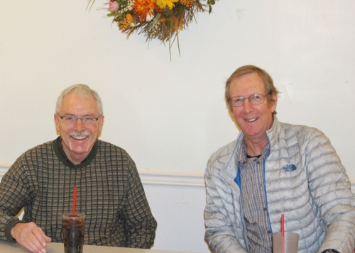 3/1 reunion Committee Meeting - Joel Wingard - and Laurie Somers - picture by Terry Roberts Mills